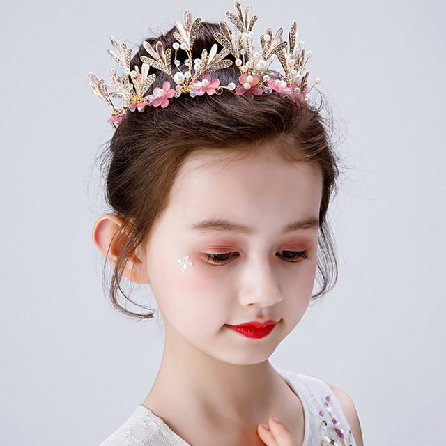 子供アクセサリー 子どもアクセサリー ヘアーアクセサリー 髪飾り ヘッドドレス キッズ 結婚式 ウェディング 入学式 入園式 発表会 入園式 卒園式 七五三 プレゼント アクセサリー ピンク キラキラ