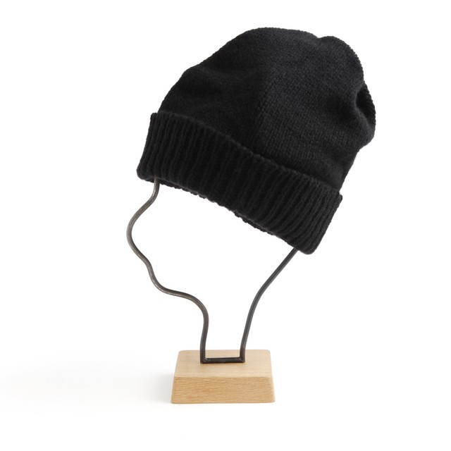 mature ha./slant cutting knit cap aran 2 lamb navy