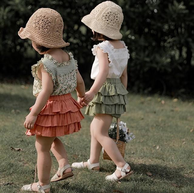 【先行予約】ノースリーブブラウス ガーリーシャツ SS 春夏 韓国子供服