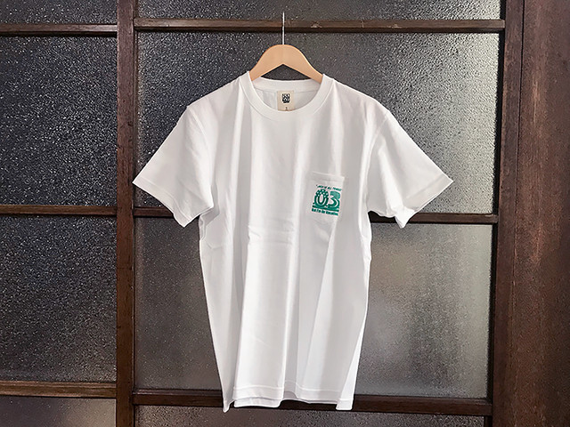 "万屋MARU ""03"" SUPER HEAVY WEIGHT TEE (WHITE/EMERALD)"