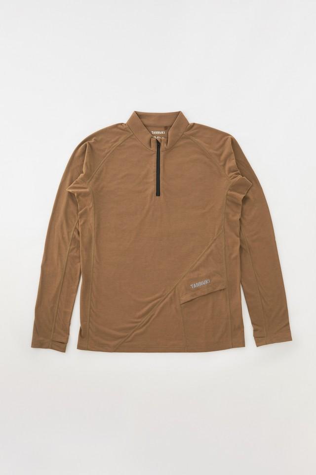 Sato LS Half Zip: Color Brown