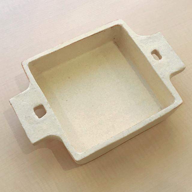 吉永哲子 グラタン皿 正方形 白【耐熱】