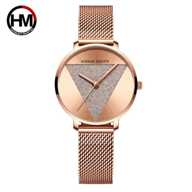 オリジナルデザインの女性用時計ファッションジャパンクォーツムーブメントステンレススチールローズゴールド防水腕時計relogiofeminino1332WF4