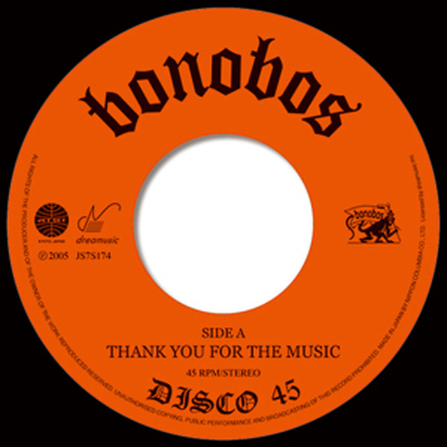 BONOBOS - THANK YOU FOR THE MUSIC(視聴盤落ちセール品)