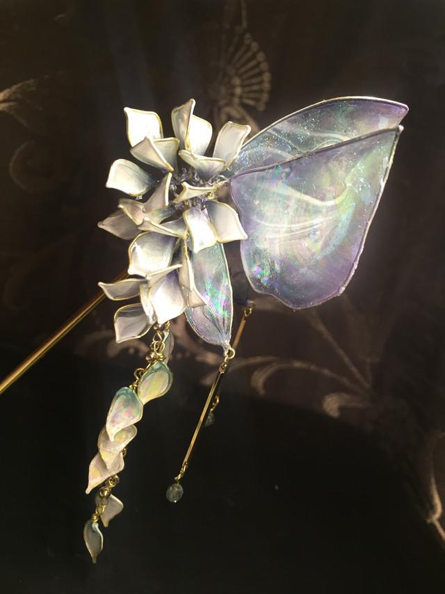 【螺鈿】ー胡蝶(緑) Phalaenopsis
