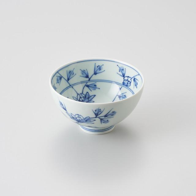 【青花】花唐草 3.8寸丸飯碗