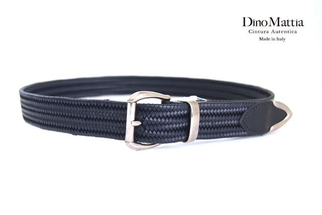 ディノマッティア|Dino Mattia|レザーメッシュベルト|85|ネイビー
