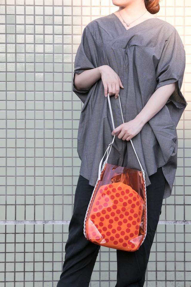 【proef】LAN / PVC ショルダーバッグ   orange