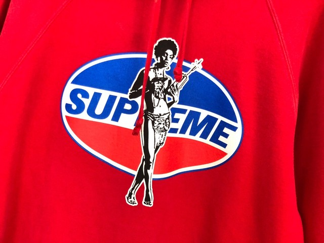 Supreme 17AW × Hysteric Glamour Hooded Sweatshirt XL RED 13JI8724
