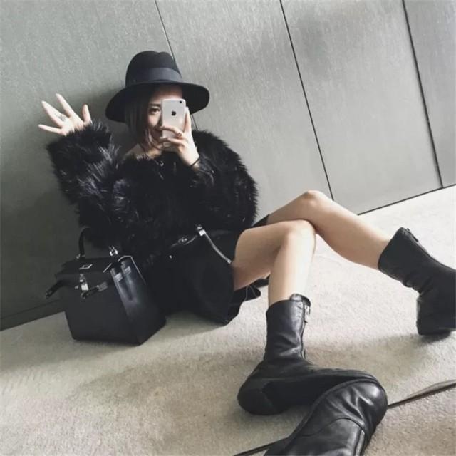【即納】fur volume tops
