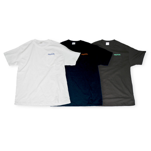 【STAY DUDE COLLECTIVE】 Embroidered Shear Logo SS Pocket-Tee