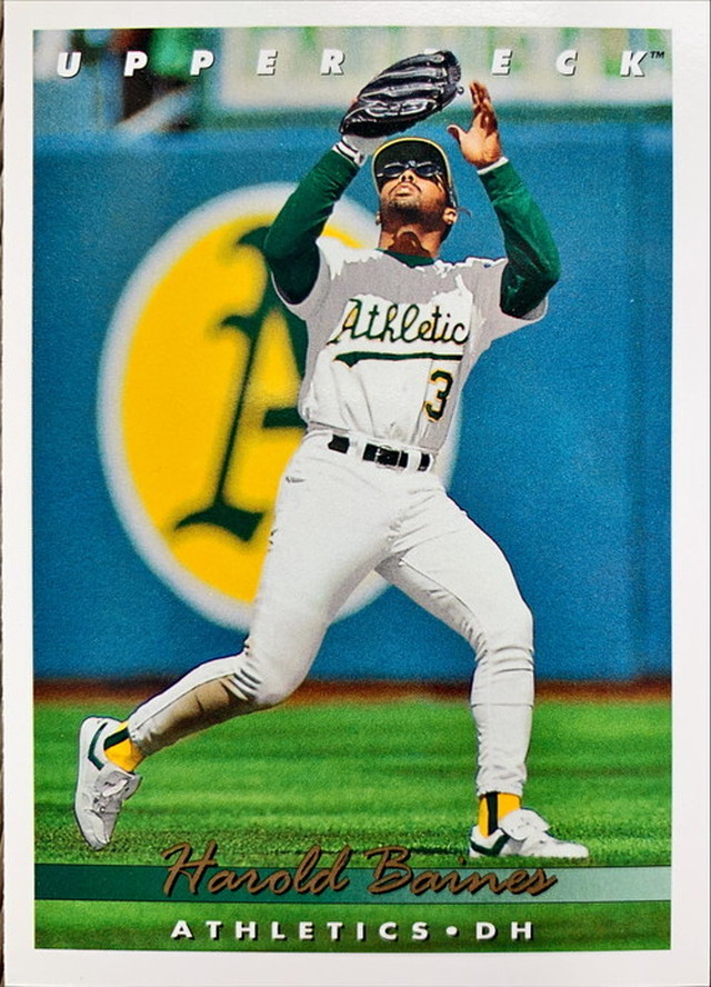 MLBカード 93UPPERDECK Harold Baines #081 ATHLETICS