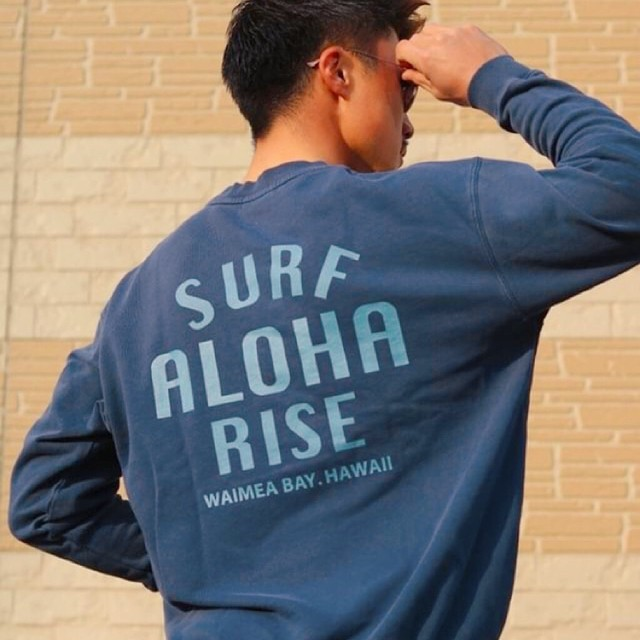 【予約販売:1月下旬発送】ALOHA RISE sweat - Vintage Navy