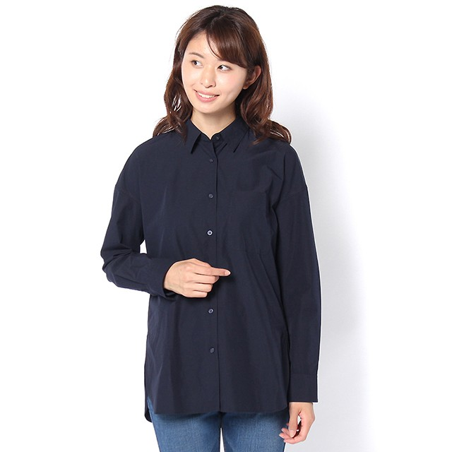 コットンシャツ (ネイビー) 4994404