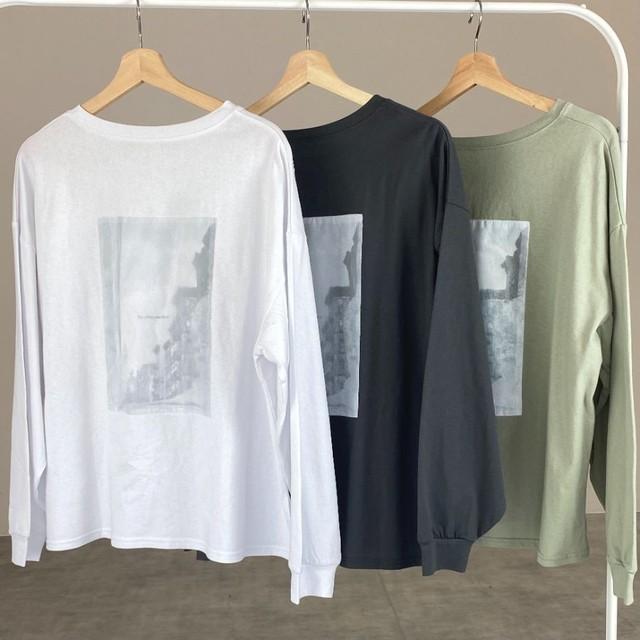◆即納◆ バックプリント オーガンジー ロングTシャツ OP-t154