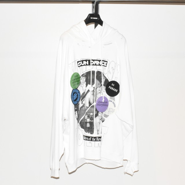 Raf Simons Destroyed Oversized Hoodie Sun Dance Collage