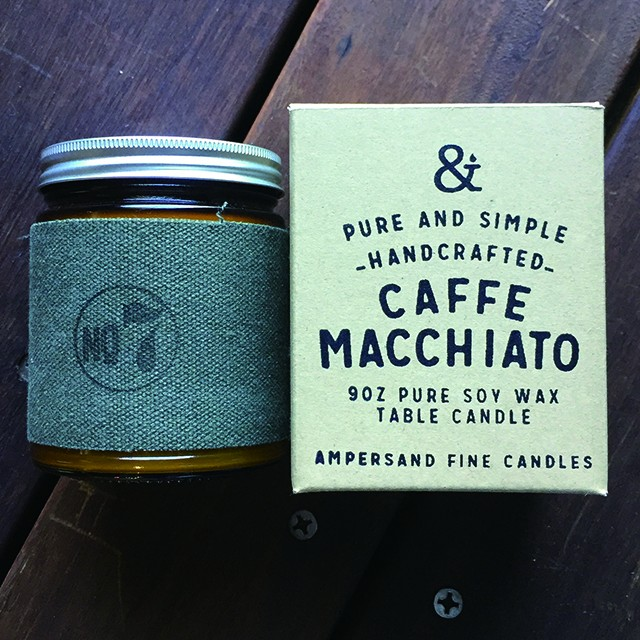 9oz Amber Jar Candle -CAFE MACCHIATO- キャンドル Candles - メイン画像