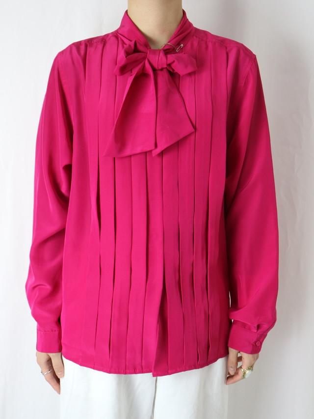 color bowtie blouse【5538】