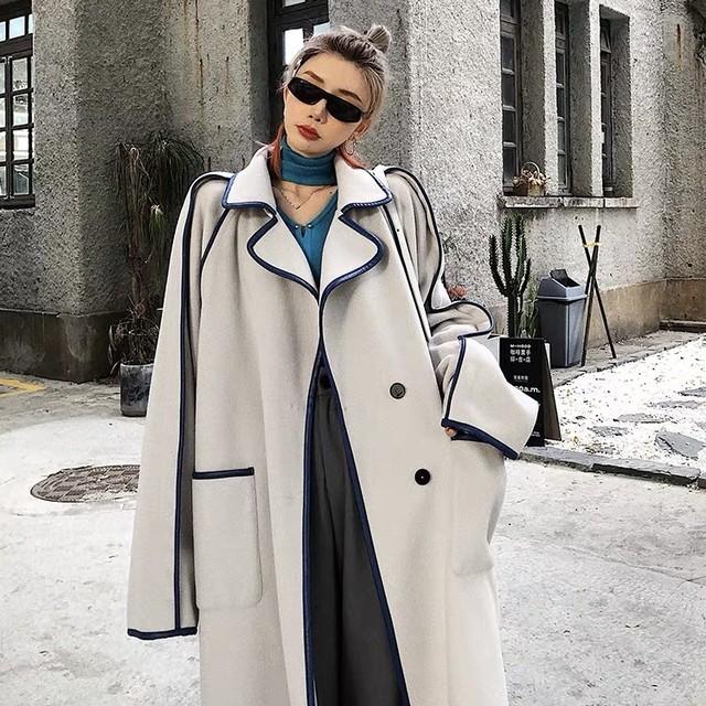 color line long coat