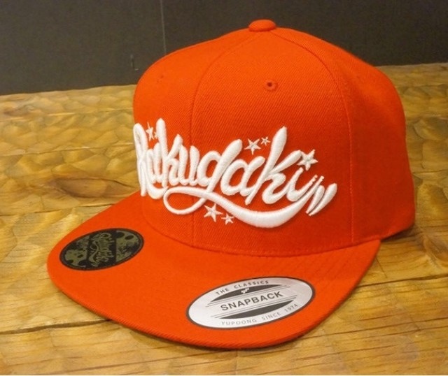 RAKUGAKI Main logo Snap Back Cap Red×White