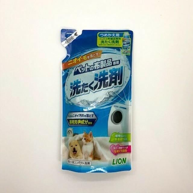 ライオン ペットの布製品専用 洗たく洗剤 つめかえ用 (正味量 320g)