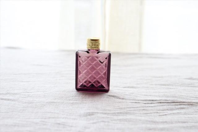 【チェコスロバキア】香水瓶 /パープル