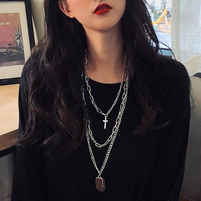 【小物】instagram人気ファッション個性派ストリート系シンプル合金ネックレス41583578