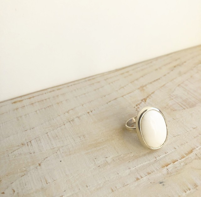 Arizona Howlite ring  /  OBH-038
