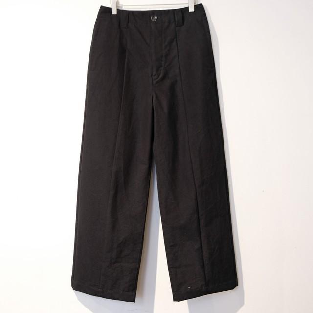 【30%オフ】THE HINOKI ザ・ヒノキ  コットンウール馬布 テーパードパンツ BLACK