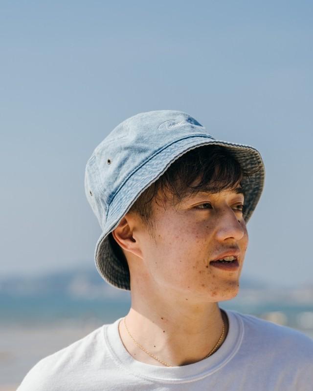 ThreeArrows 刺繍 Bucket Hat (camo)