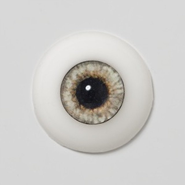Silicone eye - 19mm Silver Fox