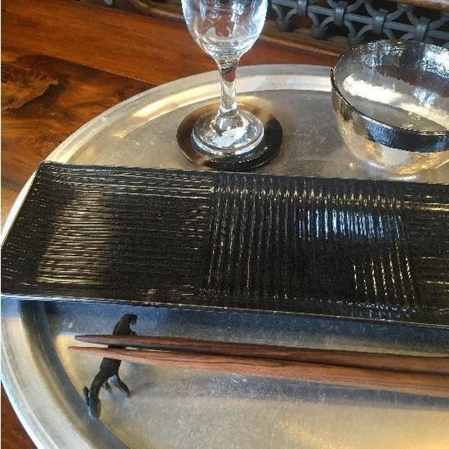 美濃焼 長角皿 黒