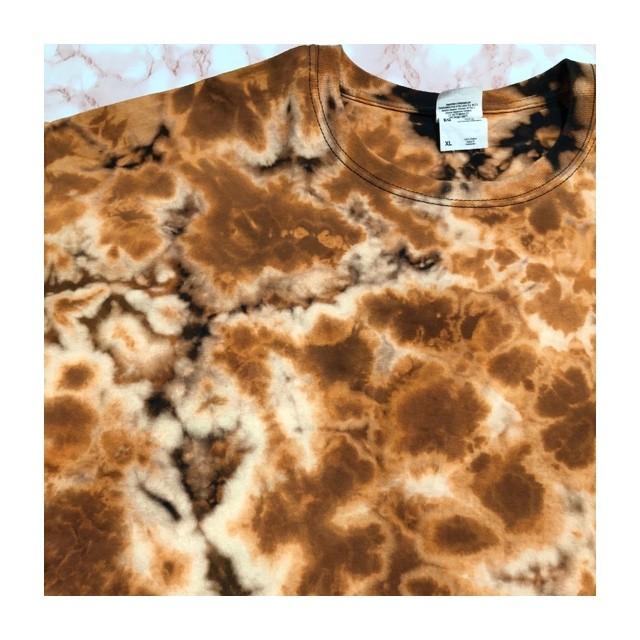 tie-dye bleach T-shirt