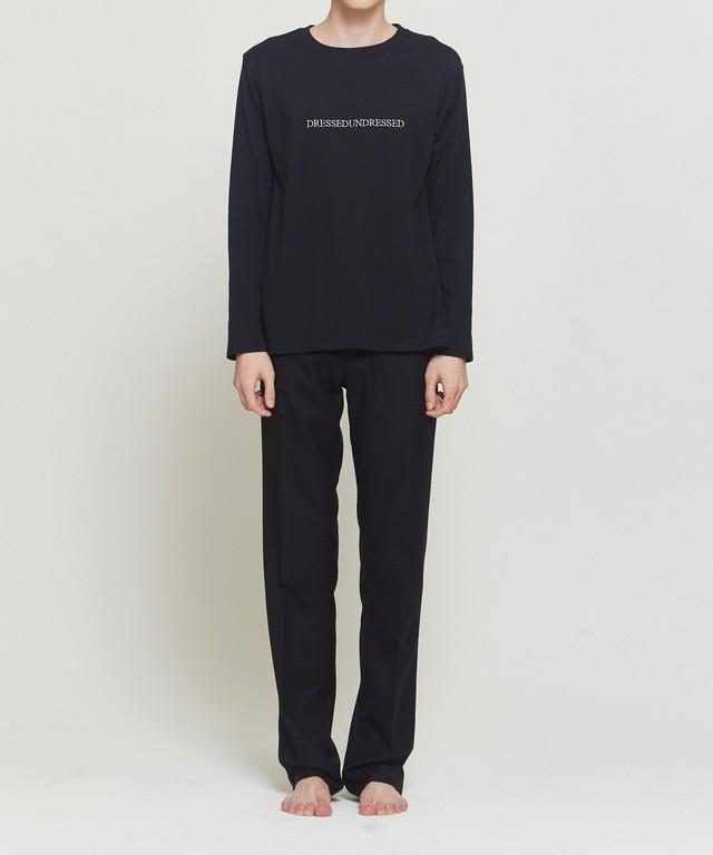Black Logo Text Long Sleeve T-Shirt