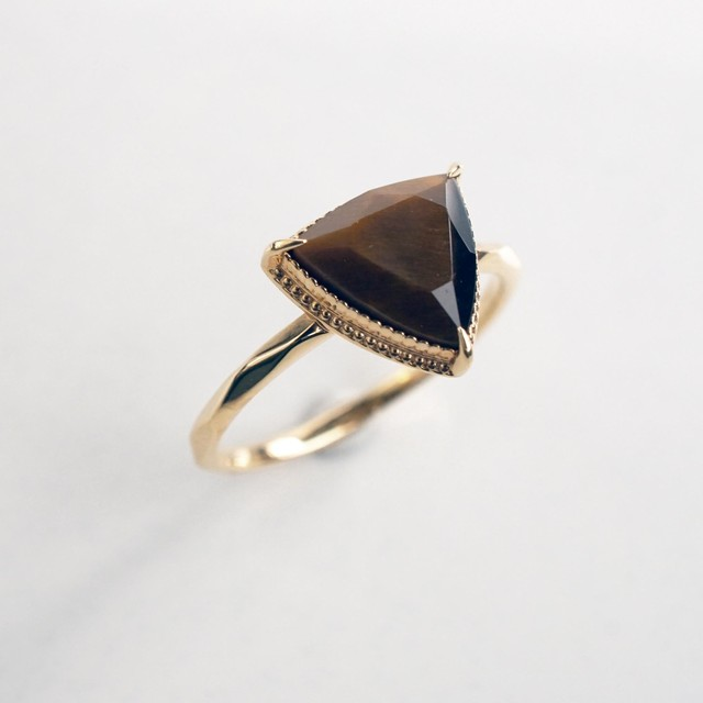 Tiger's eye Ring (Triangle)