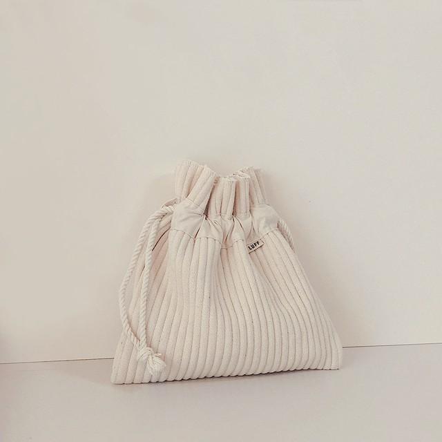 [LUFF]  cotton pouch Large