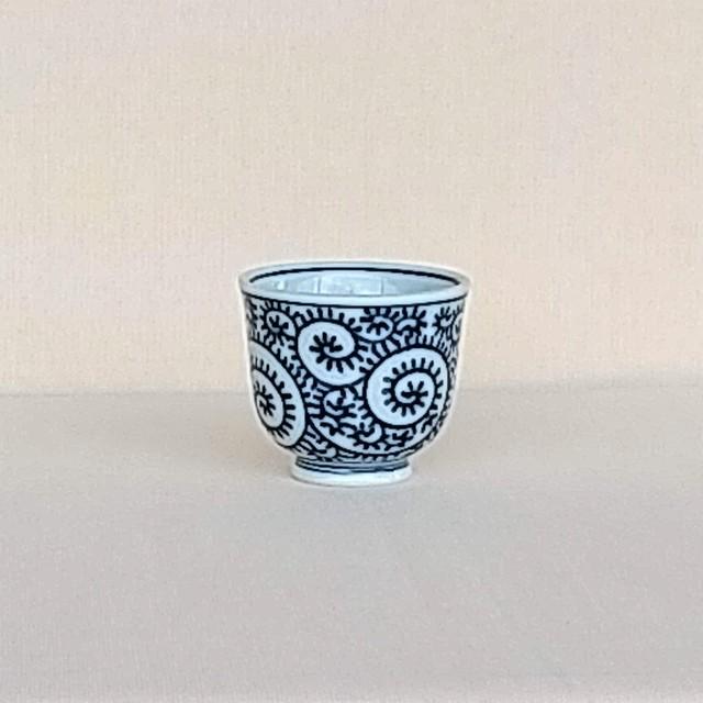 伐太郎窯 染付 タコ唐草 深仙茶
