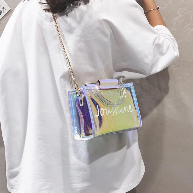 【バッグ】レーザー人気爆発中ファッションチェーンオープンショルダーバッグ30803250