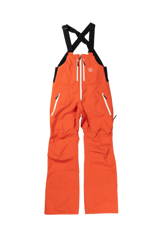 2021unfudge snow wear // SMOKE BIB PANTS // ORANGE