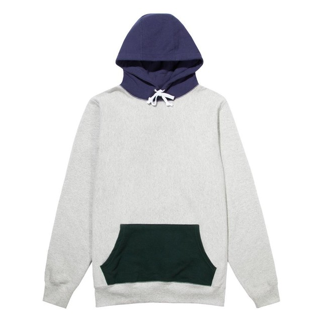Color Block Hoodie(Heather Grey)