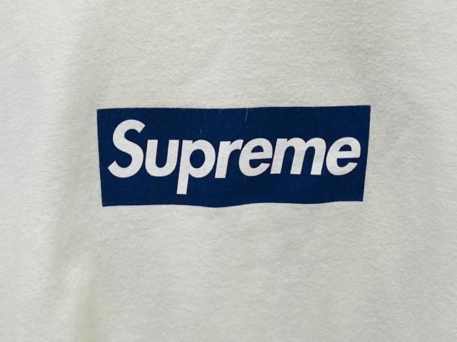 Supreme 15SS × YANKEES BOXLOGO TEE XL WHITE 150JI8713