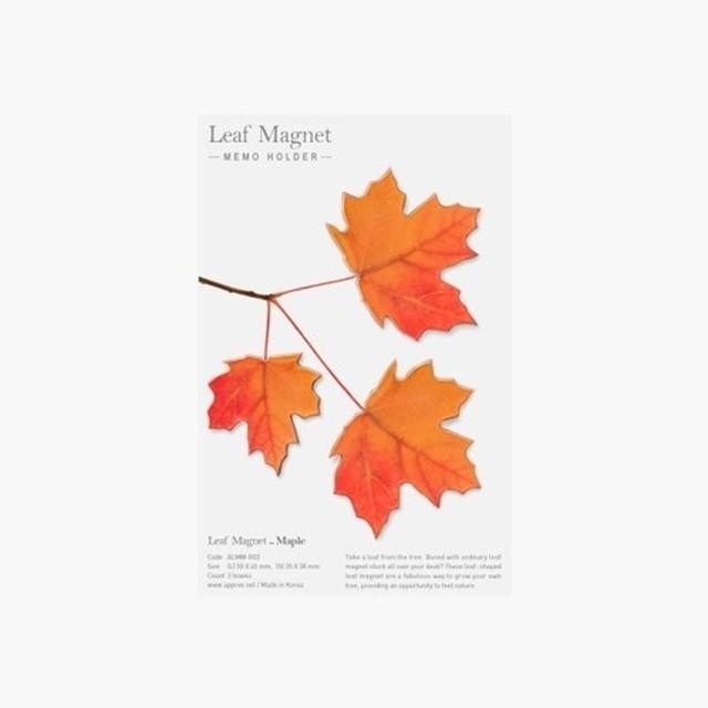 APPREE メープルリーフ 冷蔵庫 マグネット ステッカー  leaf magnet(2色)