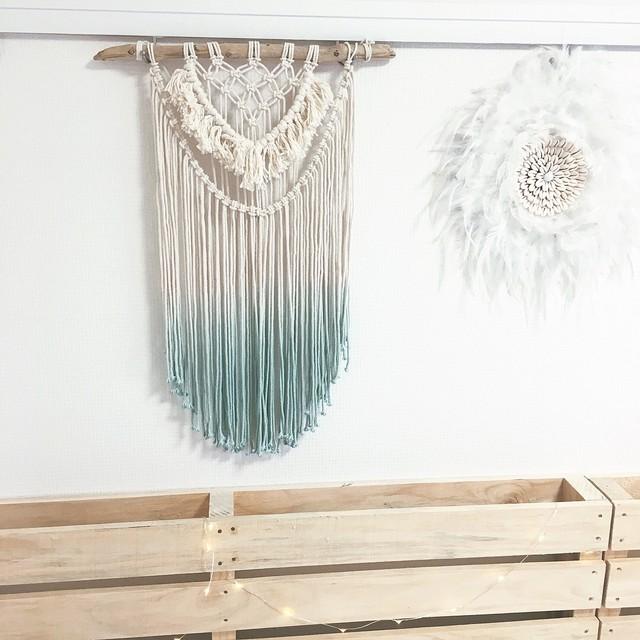 Dipdye macrame tapestry - fringe -