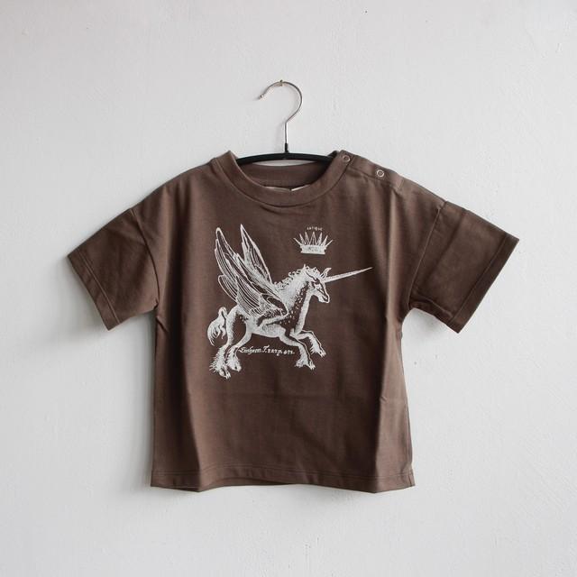 《eLfinFolk 2021SS》PEGASUS Tee / brown / 80-100cm