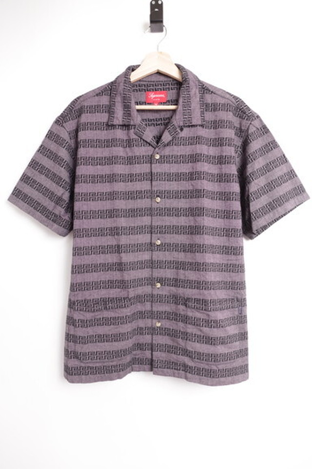 Supreme KEY STRIPE S/S SHIRT PURPLE MEDIUM 25JH8288