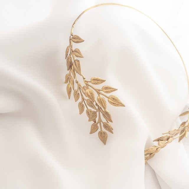 simple leaf バックカチューシャ