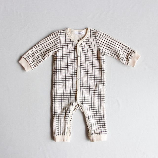 《chocolatesoup 2019AW》GEOMETRY SWEAT ROMPERS / grid