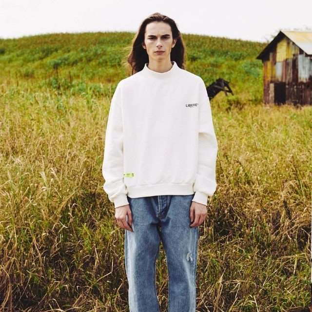 MOCKNECK SWEATSHIRTS / NATURAL WHITE