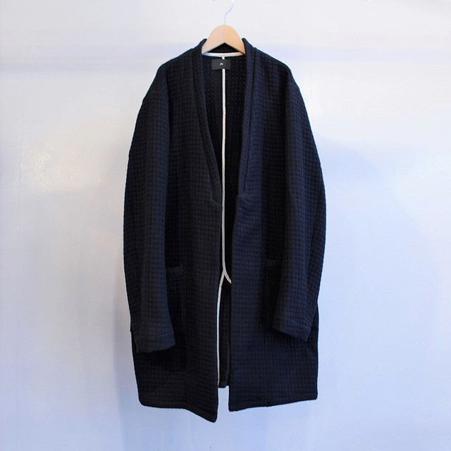 Garage.U.W Exclusive Reciprocity WOOL WAFFLE NC LONG JACKET