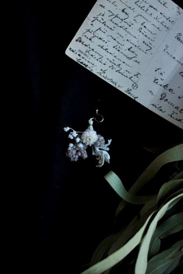 スワッグイヤリング片耳用10(金具:金属ノンホールピアス)